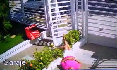 La mujer quedó tendida en el suelo. / Foto: Zona Cero.